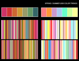color forecast spring summer 2005 color trends source senay topcuoglu