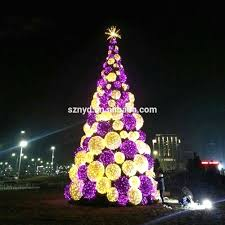 outdoor lighted trees tree