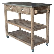 sonoma wire brush rustic finish kitchen cart jet com