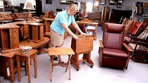 Amish Furniture Factory TV Tray Set YouTube - Factory furniture