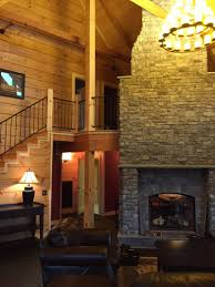 Two Story Fireplace Crossville Honest Abe Cambridge Model Home