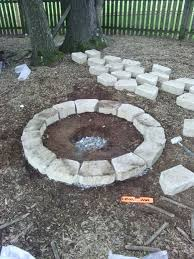Firepit Blocks Retaining Block Pit 40 Inch Inner Diameter Retaining