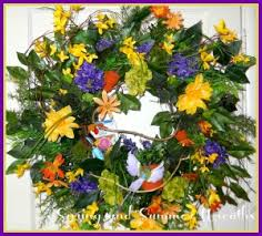 and summer wreaths for your front door artificial wreaths
