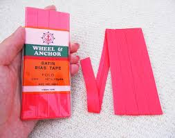 satin bias satin bias neon pink