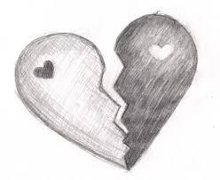 broken heart yin yang by dudeitsbunnie on deviantart