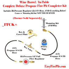Fire Pit Burner Kits by Itck Universal Deluxe In Table Diy Do It Yourself Propane Fire