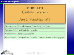 copyright 2012 carlson o u0027bryan u0026 joyner worksheet 6 vertex