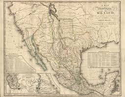 mexico map 1800 independence from spain to president porfirio díaz the
