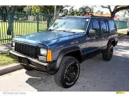 beige jeep cherokee 1994 dark montego blue pearl metallic jeep cherokee sport