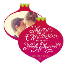 Newly Wed Christmas Card Newly Married Christmas Photo Holiday Card Invitations By Dawn