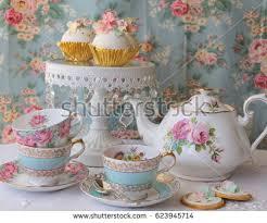 vintage tea set vintage tea stock images royalty free images vectors