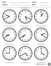 time worksheet generator worksheets