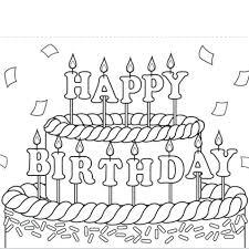 printable birthday card decorations frozen birthday card coloring pages adult free printable birthday