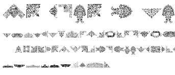 free ornaments font dingbats ancient category