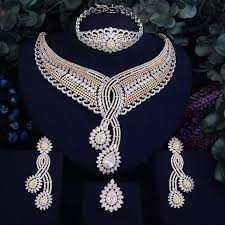 diamond necklace set images Wedding jewelry set diamond necklace set dreamy us fashions jpg