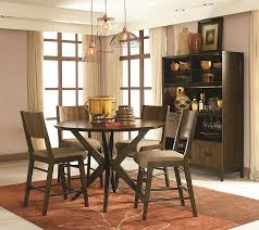 round pub table in hazelnut finish by legacy classic wolf and