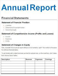 annual report template word best photos of annual report template annual financial report