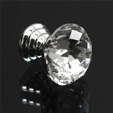 glass cabinet pulls handles 10pcs newest crystal zinc alloy durable 10pcs diam 20mm round
