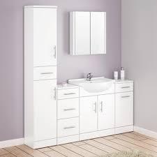 bathroom cabinets alaska gloss white bathroom cabinet basin
