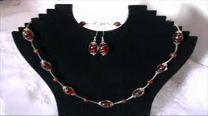 cercei online bijuterii handmade set colier si cercei din margele de sticla