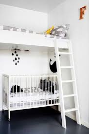 Crib Loft Bed Bunk Bed With Crib At Home And Interior Design Ideas