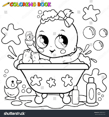 baby tub taking bath black stock vector 280939559 shutterstock