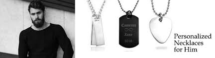 Mens Engraved Necklaces Engraved Necklaces For Him Personalized Necklaces For Him