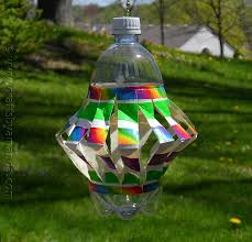recycled plastic bottle wind spinner crafts by amanda
