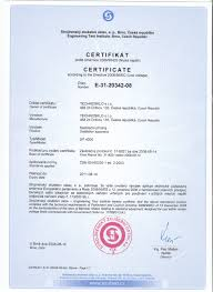 certificate according the directive 2006 95 ec technosklo ltd