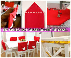 santa chair covers diy festive santa hat chair cover santa table setting