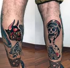 50 traditional devil tattoo designs for men old ideas