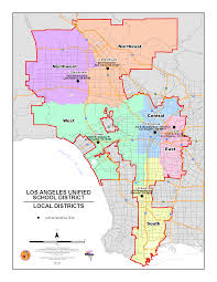 Los Angeles Street Map by Lausd Maps Local District Maps 2015 2016