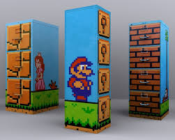 Super Mario Home Decor File Cabinet Ideas New Colorful Office Home Cool Filing Cabinets