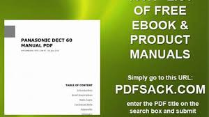 panasonic dect 60 manual pdf video dailymotion