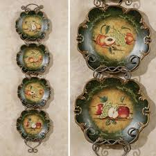 abundant fruit decorative plate set kitchen design