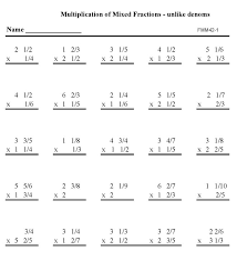 bluebonkers printable fractions practice math sheets multiply