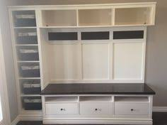 Entrance Bench Ikea Ikea Mudroom 2 Expedit Bookcases Besta Storage With Drawers