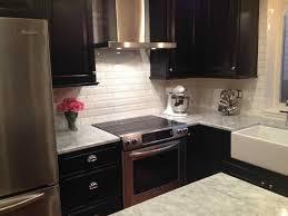 glass tile backsplash with dark cabinets 77 beautiful contemporary best white subway tile backsplash kitchen