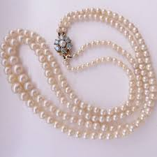 pearl necklace double strand images Vintage double strand real saltwater akoya pearl necklace good jpg
