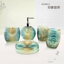 Bathroom Accessories Sets Pieces Bathroom Set Fashion Crystal Bathroom Accessories Clear