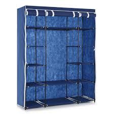 Bedroom Wardrobe Closet Portable Clothes Closet Wardrobe Cabinet Storage Organizer Hanger