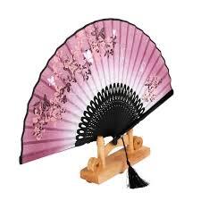 held paper fans handmade folding fan bamboo silk flower pattern held
