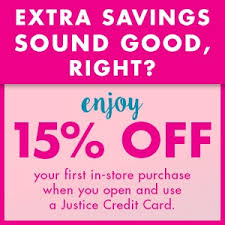 justice for girls credit card application e b