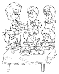 birthday party coloring pages stuff free birthday coloring pages