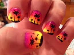 another sunset nail art by tobok on deviantart