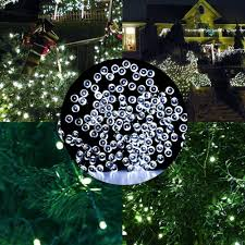 amazon com outdoor lights 72ft 200 led solar string fairy