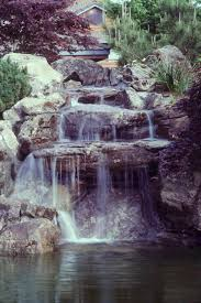 pond with waterfalls outdoor furniture design and ideas