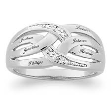 silver mothers ring diamond eternity mothers ring bliss living