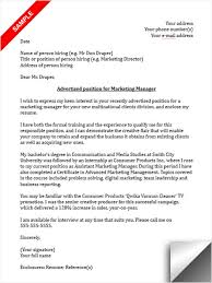 marketing cover letter well professional cover letter template