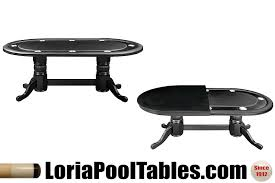 Black Pedestal Table 84 U0027 U0027 Pedestal Poker Table With Optional Dining Top Loria Awards
